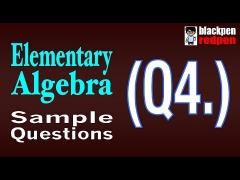 Elementary Algebra Q4  |  Pierce College math assessment sample MDTP