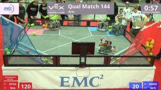 VEX Worlds 2016 - VRC High School - Arts - Qual 144 (2915A 765A) 281 vs 163 (9908W 8675)