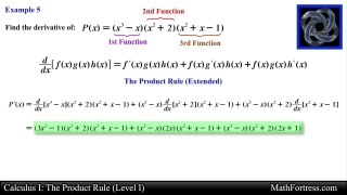 Calculus I: The Product Rule (Level 1 of 3)