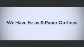 How to Write a College Paper Outline