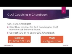 CLAT Coaching in Chandigarh by CLAT Guru 8054071123