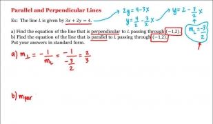 Math 1A/1B. Pre-Calculus: Parallel and Perpendicular Lines