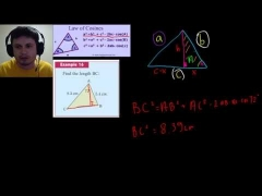 The Cosine Rule / Law of Cosines (IB Math Studies)