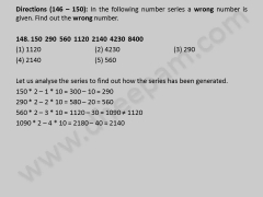 Indian Bank Exam | for Rural Marketing officer on 03-01-2010 | Aptitude problems 146-150