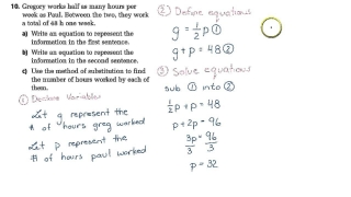 MPM2D Exam Review - Linear Systems Word Problem