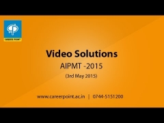 AIPMT 2015 Video Solution Biology [Q-140] by CAREER POINT | Call +91-7445151200