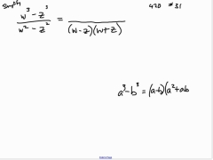 110303 Math 085 Simplifying Rational Expr with Dif of Cubes.mp4