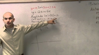 Pre-Calculus - Graphing the sine graph - Free math lesson y = -2 sin6x