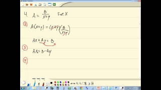 Basic Algebra Skills Review - Formulas