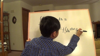 Math Whiz Kid derives integral of x inverse tan x---integral Calculus table