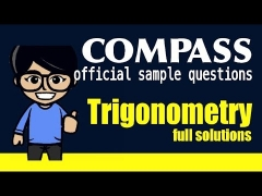 Q6, ACT Compass Trigonometry (official sample test problems)