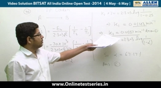 BITSAT 2014 All India Online Open Test Solutions Chemistry   41,42,43,44