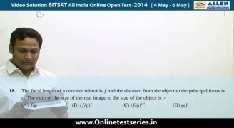 BITSAT 2014 All India Online Open Test Solutions Physics 13,14,15,16,17,18,19,20