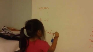 4-Year-Old Math  whiz kid -doing algebra: Calculus 2 Kids