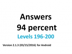 Answers 94 percent (%) - 196-200 levels (English) #62