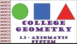 College Geometry - 1.3 - Axiomatic System