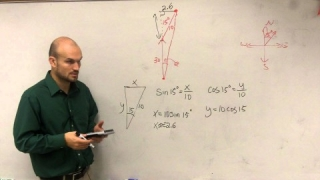 Pre-Calculus - Finding the bearing of a plane using trigonometry
