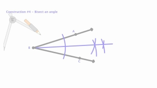 Compass Construction 4 - Bisect an angle