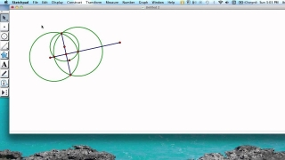 Geometer's Sketchpad Constructions:Perpendicular Line with Compass & Straightedge