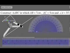 GCSE Tutorial   Constructions   triangles with Protractor